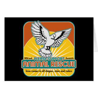 Tierrettungs-Vogel Grußkarte