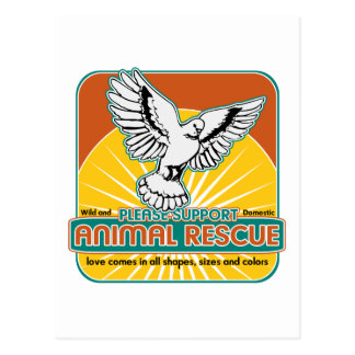 Tierrettungs-Vogel Postkarte