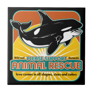 Tierrettungs-Wal Keramikkachel