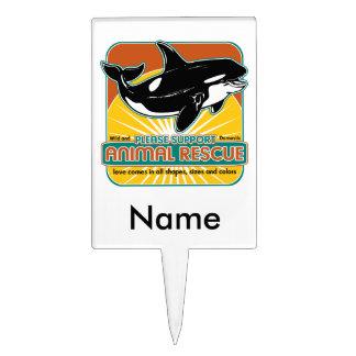Tierrettungs-Wal Tortenaufsatz