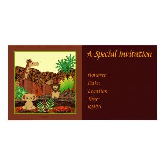 Tiersafari-Einladung Photokarte