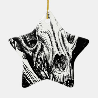 Tierschädel Keramik Ornament