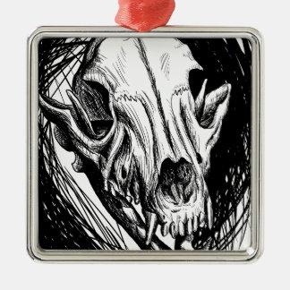 Tierschädel Silbernes Ornament
