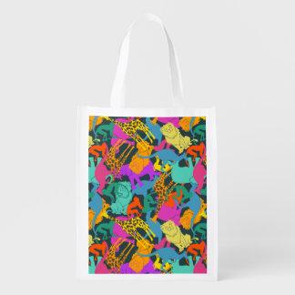 TierSilhouette-Muster Wiederverwendbare Einkaufstasche