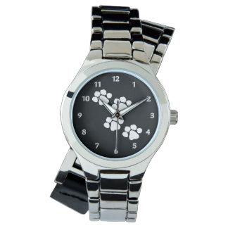 Tiertatzen-Drucke Armbanduhr