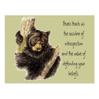 Tiertotem, Bären Natur, Geist-Führer Postkarte