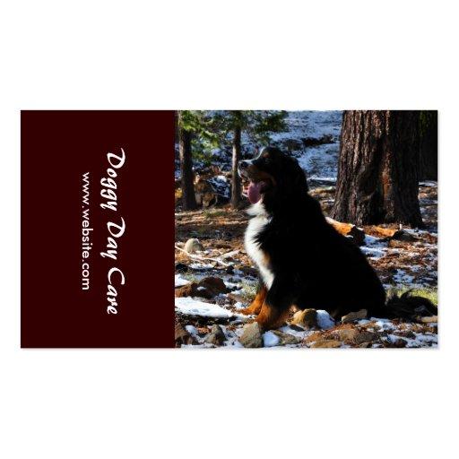 Tiertraining, Züchtung, Hundehütte und Tierarzt Visitenkartenvorlage