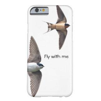 Tiervogel-Baum-Schwalbe und Scheunen-Schwalbe Barely There iPhone 6 Hülle