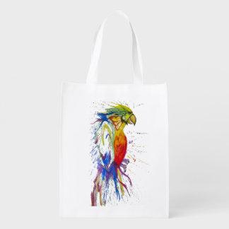 Tiervogel-Papagei Wiederverwendbare Einkaufstaschen