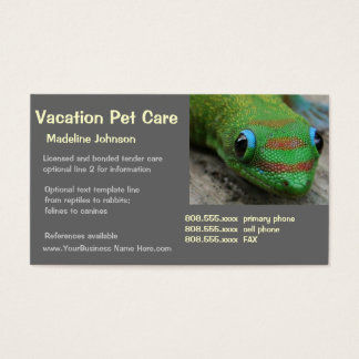 Tierwärter Visitenkarte