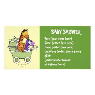 Tierweg 5 Babyparty Foto Karten Vorlage