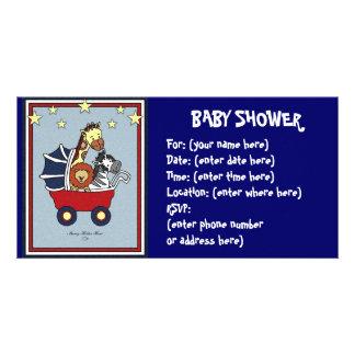 Tierweg-Babyparty Photokartenvorlagen