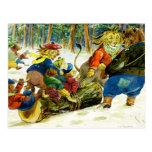 Tierweihnachten - Erhalten des Weihnachten-Klotzes Postkarten