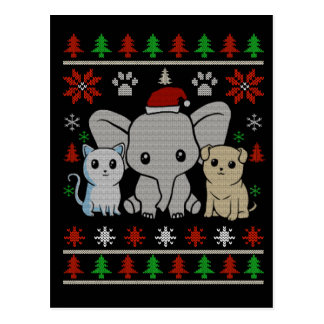 Tierweihnachtspostkarte Postkarte