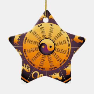 TierYin Yang Keramik Stern-Ornament