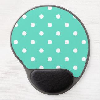 Tiffany-Aqua-Blau mit weißen Tupfen Gel Mousepad