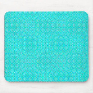Tiffany-Blau und Creme-ineinander greifenkreise Mousepad