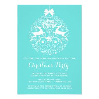 Tiffany blaue Ren-WeihnachtsParty Einladung