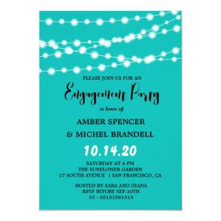 Tiffany blaues glühendes Schnur-helles Karte