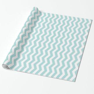 Tiffany blaues u. weißes Zickzack Muster Einpackpapier