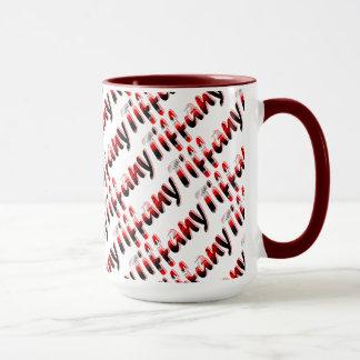 Tiffany rote Art 15 Unze-Wecker-Tasse Tasse
