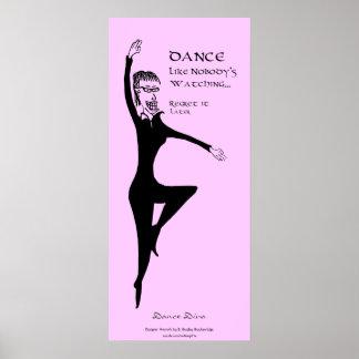 Tiffany-Tanz mögen niemanden aufpassende Kunst Poster