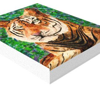 Tiger-Acrylmalerei-Leinwand-Druck Leinwanddruck