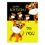 Tiger-alles- Gute zum Geburtstagpostkarte Postkarten