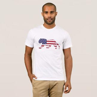 "Tiger ""amerikanische Flagge "" T-Shirt"