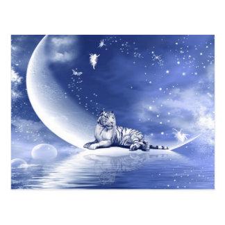 Tiger auf dem Mond Postkarte