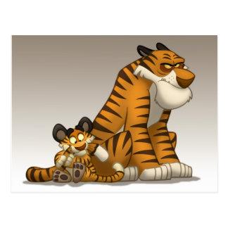 Tiger auf einer Postkarte