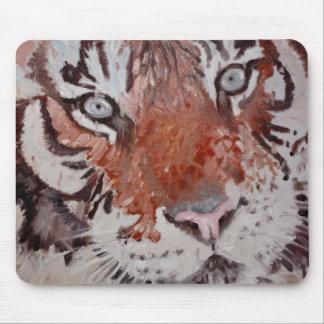 Tiger-Augen. Bengalischer Tiger. Kopf nur Mousepads