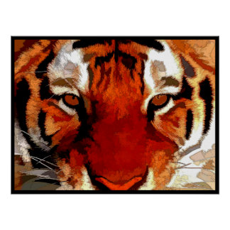 Tiger-Augen Posterdruck