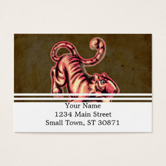 Tiger-Baby-Malerei-Cartoon-Lachse Brown Jumbo-Visitenkarten