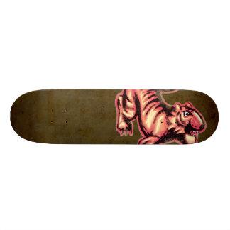 Tiger-Baby-Malerei-Cartoon-Lachse Brown Personalisierte Skateboarddecks