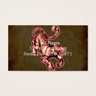 Tiger-Baby-Malerei-Cartoon-Lachse Brown Visitenkarten