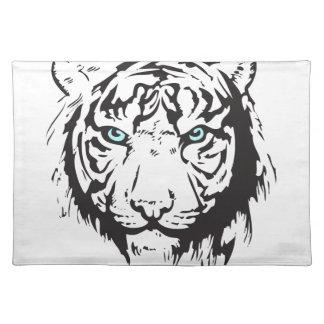 Tiger-blaue Hauptaugen Stofftischset