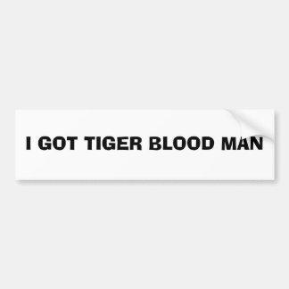 Tiger-Blut-Autoaufkleber Autoaufkleber