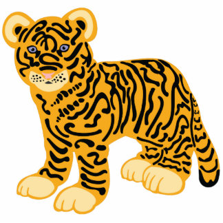 Tiger CUB Freistehende Fotoskulptur