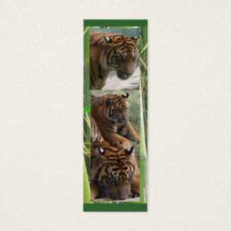Tiger drei, MiniLesezeichen Mini Visitenkarte