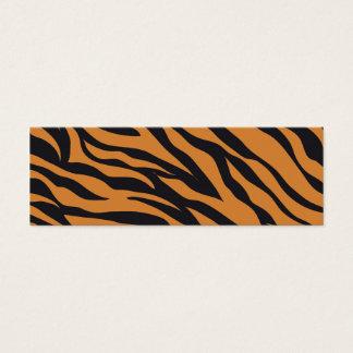 Tiger-Druck Mini-Visitenkarten