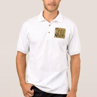 Tiger-Druck-Muster. Orange und Schwarzes Polo Shirt