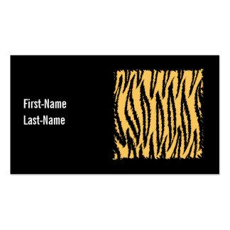 Tiger-Druck-Muster. Orange und Schwarzes Visitenkarte
