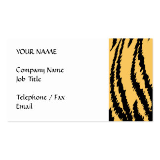Tiger-Druck-Muster. Orange und Schwarzes Visitenkarten