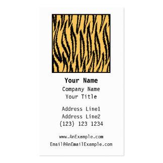 Tiger-Druck. Orange und schwarzes Muster Visitenkarte