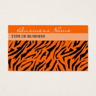 Tiger-Druck-Visitenkarte-Schablone Visitenkarten