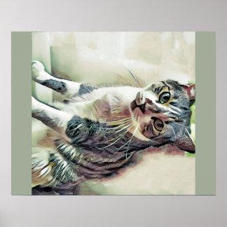 TIGER: ER IST EIN CAT: Digital-Malerei - Vertikale Poster