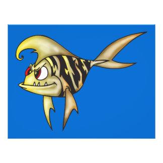 Tiger-Fische 21,6 X 27,9 Cm Flyer