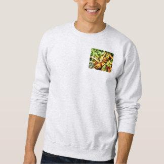 Tiger-Frack auf gelber Wildblume Sweatshirt