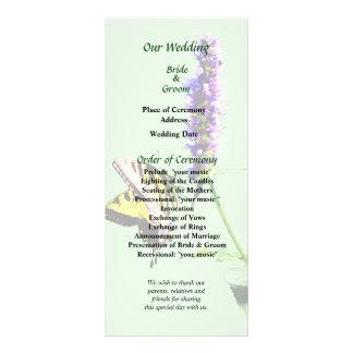 Tiger-Frack auf lila Salvia Hochzeits-Programm Werbekarte